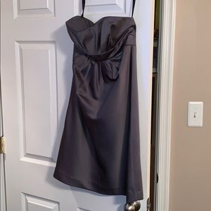 Alfred Angelo gray/silver bridesmaid dress size 4